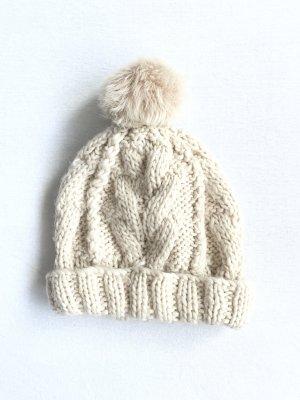 H&M Cappello a maglia beige chiaro-bianco sporco