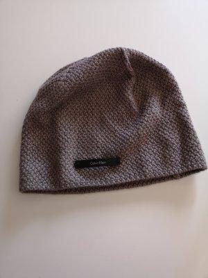 Calvin Klein Cappello a maglia marrone chiaro