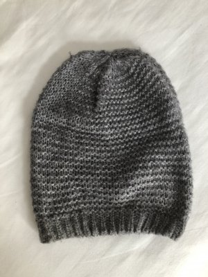 Pieces Knitted Hat grey-light grey