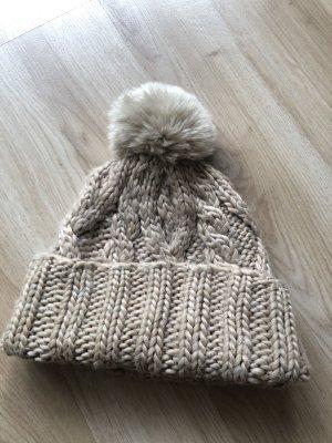 Zara Knitted Hat beige