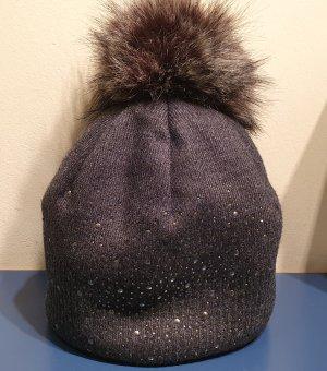 Wełniana czapka ciemnoszary