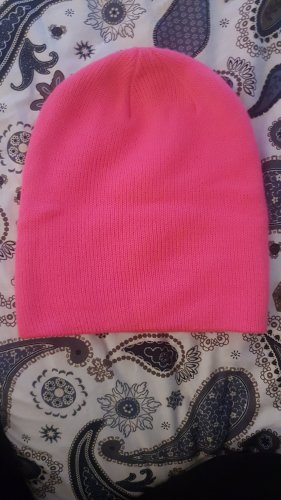 H&M Fabric Hat neon pink