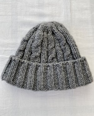 Seeberger Knitted Hat grey-light grey