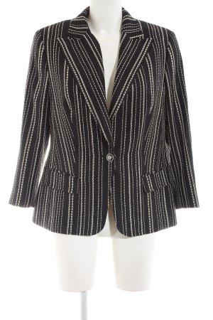 Hauber Long-Blazer schwarz-weiß Streifenmuster Business-Look