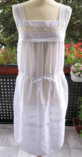 Handmade Lace Dress white cotton
