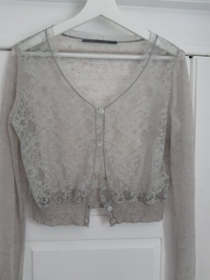 Angela Davis Knitted Bolero sage green
