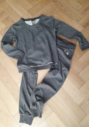 gwynedds Leisure suit silver-colored-grey cotton