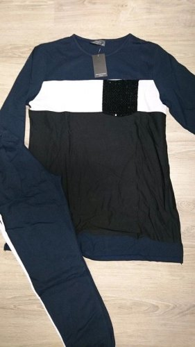La giza Completo sportivo nero-blu Cotone