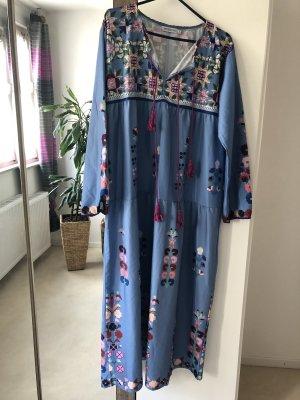 Robe de chambre bleu acier-violet