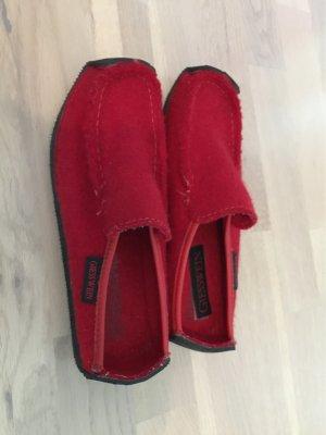 Giesswein Pantoufles-chaussette rouge foncé