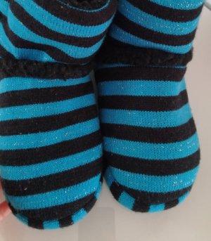 Bottes d'intérieur noir-bleu clair
