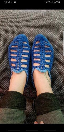 Bid Handmade Scuffs blue