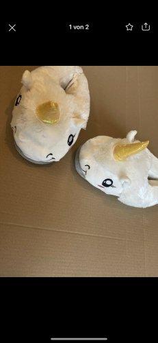 Pantoufles-chaussette blanc