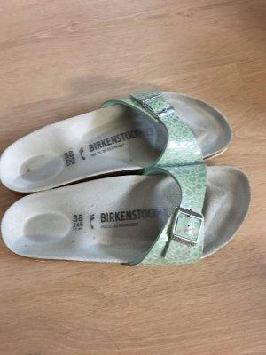 Birkenstock Pantuflas turquesa