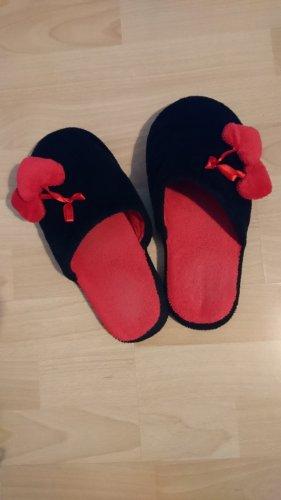 Scuffs neon red-black