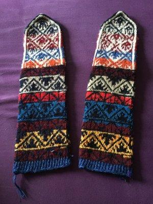Hand made Pantoufles-chaussette multicolore