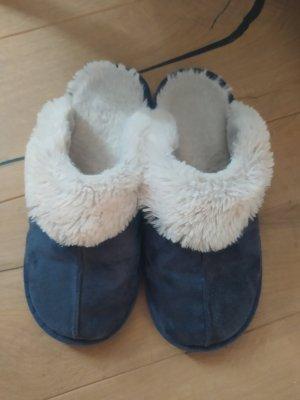 House Boots natural white-dark blue