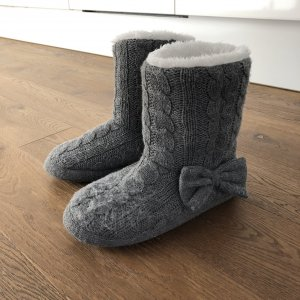 H&M House Boots grey-natural white