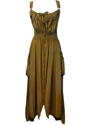 Jean Paul Gaultier Gabardina tipo vestido verde oliva Poliéster