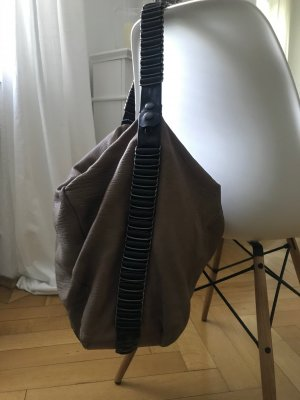 Gianfranco Ferré Hobos grey brown leather