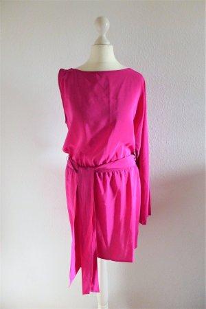 haute hippie Boho Seidenkleid pink fuchsia Gr. XS 34/36