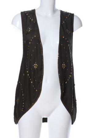 Haute hippie Blusenjacke schwarz-goldfarben Glanz-Optik