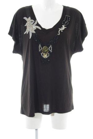 Haute hippie T-Shirt braun extravaganter Stil