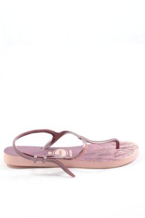 Havaianas Flip Flop Sandalen pink-lila Motivdruck Casual-Look