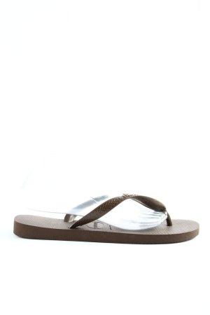 Havaianas Sandały japonki brązowy W stylu casual