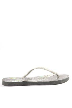 Havaianas Dianette sandalen lichtgrijs casual uitstraling