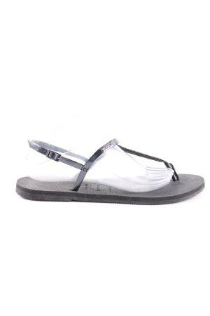 Havaianas Sandały japonki czarny-srebrny W stylu casual