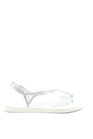 Havaianas Sandały japonki biały-srebrny