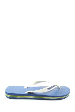 Havaianas Flip Flop Sandalen blau-weiß Schriftzug gedruckt Casual-Look