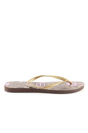 Havaianas Flip Flop Sandalen braun-lila Casual-Look