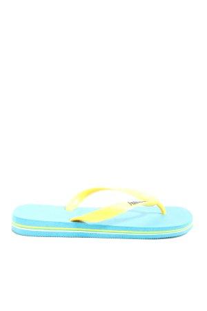 Havaianas Flip Flop Sandalen blassgelb-türkis Casual-Look