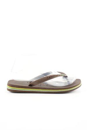 Havaianas Flip Flop Sandalen bronzefarben Streifenmuster sportlicher Stil