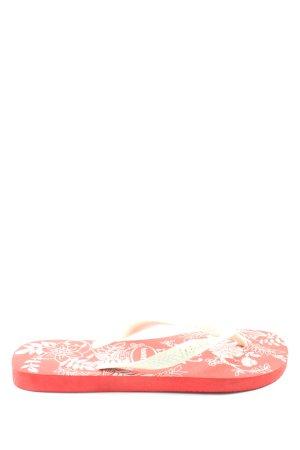 Havaianas Flip Flop Sandalen rot-weiß Blumenmuster Casual-Look