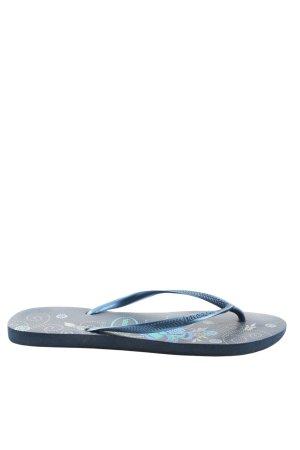 Havaianas Flip Flop Sandalen blau Blumenmuster Casual-Look