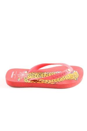 Havaianas Flip Flop Sandalen pink-blassgelb Motivdruck Casual-Look