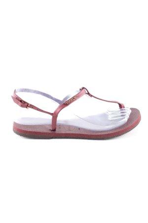 Havaianas Flip Flop Sandalen rot schlichter Stil