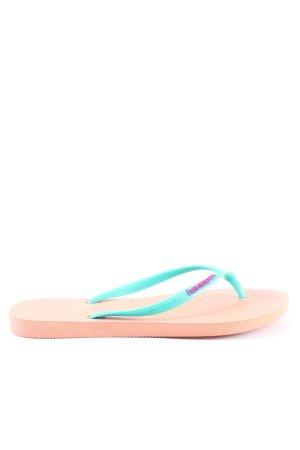 Havaianas Flip flop sandalen turkoois-nude casual uitstraling