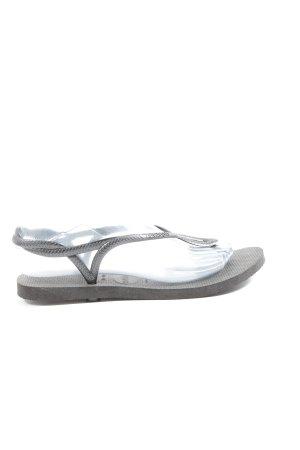 Havaianas Flip Flop Sandalen silberfarben Casual-Look