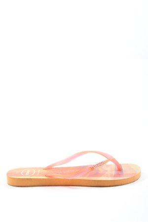 Havaianas Flip Flop Sandalen hellorange-pink Motivdruck Casual-Look