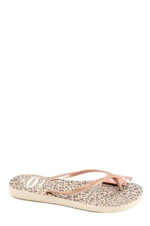 Havaianas Flip-Flop Sandals natural white leopard pattern casual look