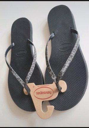 Havaianas Sandalo toe-post grigio-nero