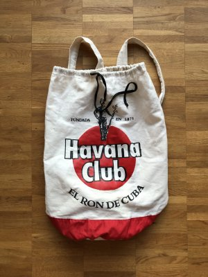 Canvas Bag natural white-dark red