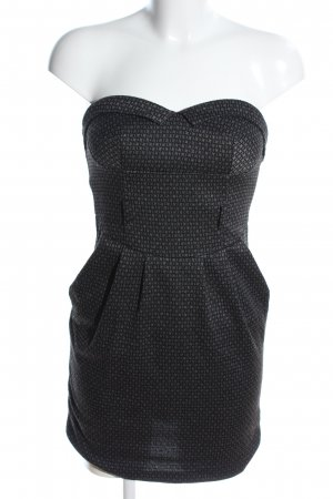 Bustier Dress light grey-black allover print casual look