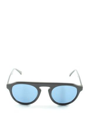 Hawkers Occhiale da sole rotondo nero-blu stile casual