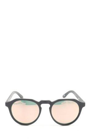 Hawkers Okrągłe okulary przeciwsłoneczne czarny Wydrukowane logo