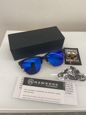 Hawkers Owalne okulary przeciwsłoneczne czarny-niebieski
